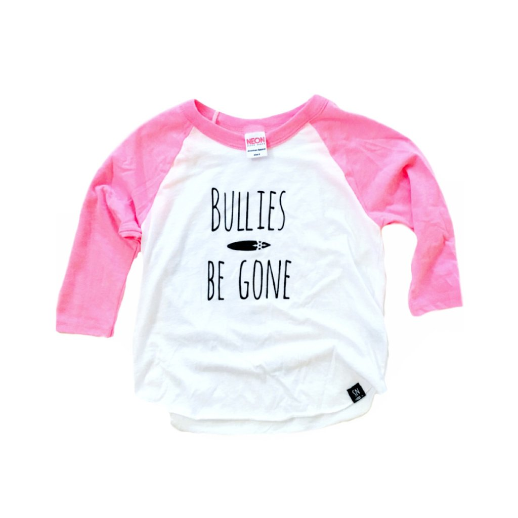 Bullies Gone Raglan - Pink