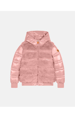 Fury Hooded Vest Jacket - Blush