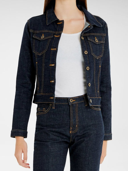 Harper Cropped Denim Jacket - Shore