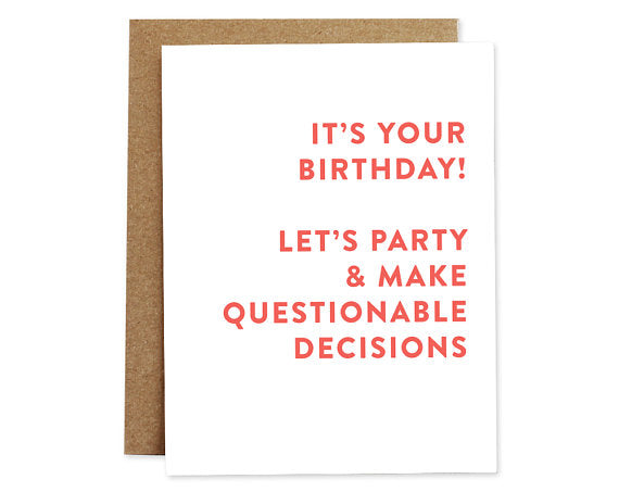 Let's Party... - Birthday Card