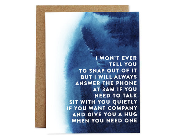 I Won't Ever... - Compassion Card