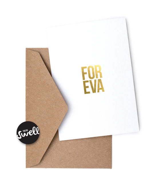FOREVA - Humorous Card