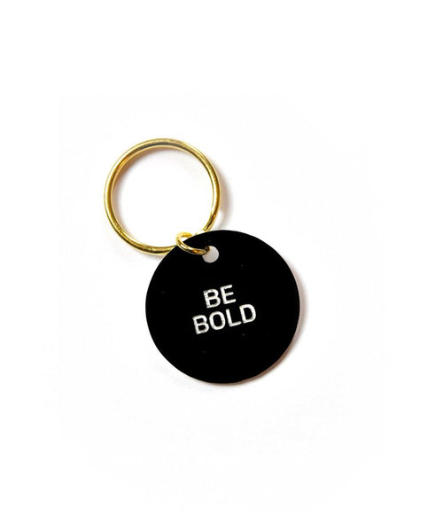 Be Bold Circle Key Ring - Black