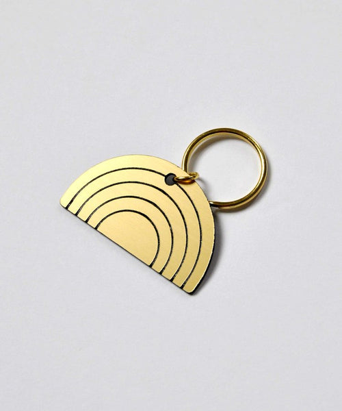 Rainbow Curve Key Ring - Gold