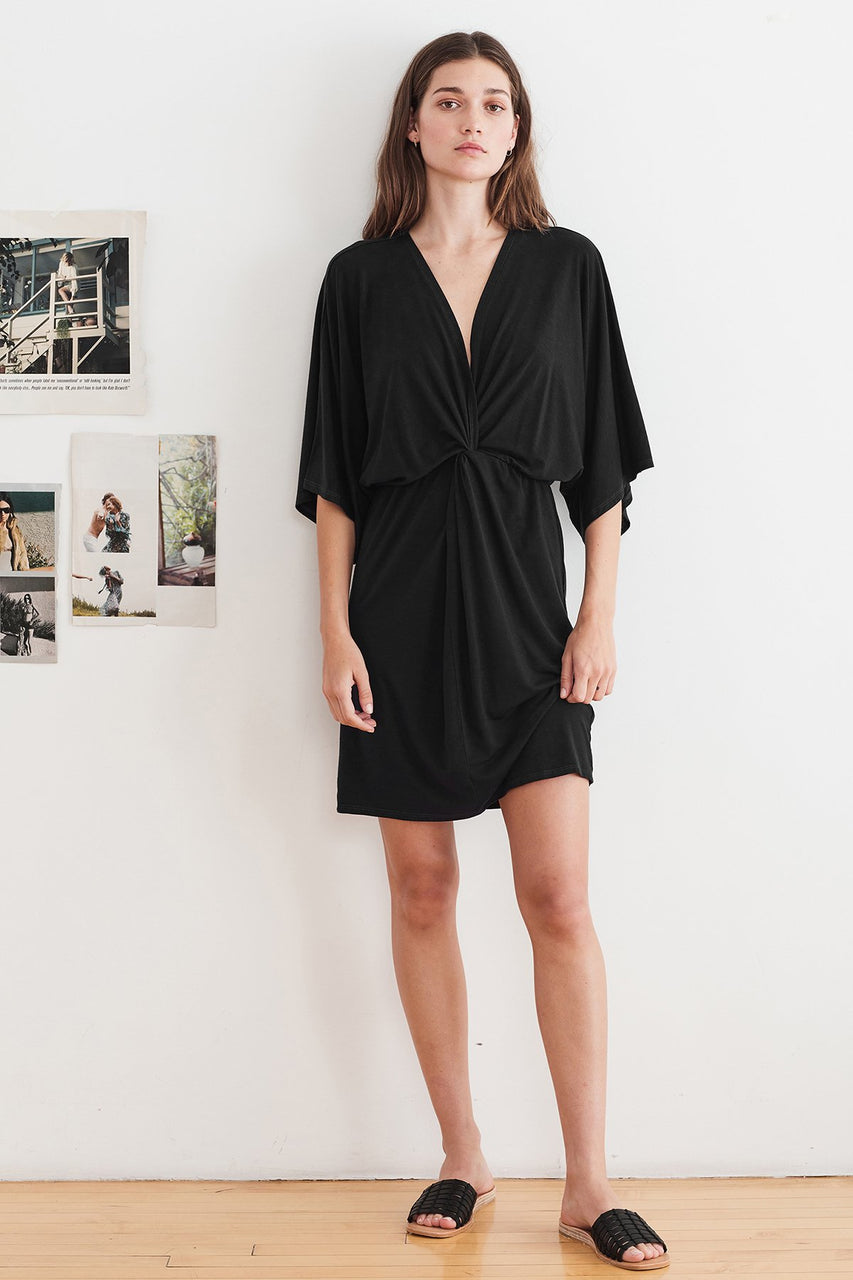 Amanda Tencel Twist Dress - Cadet