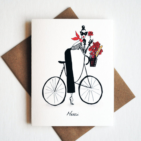 Merci Bicyclette Card