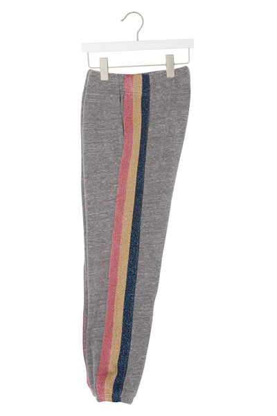 Striped Sweatpants - Heather Grey