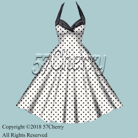 polka dot rockabilly dress, viva 2018
