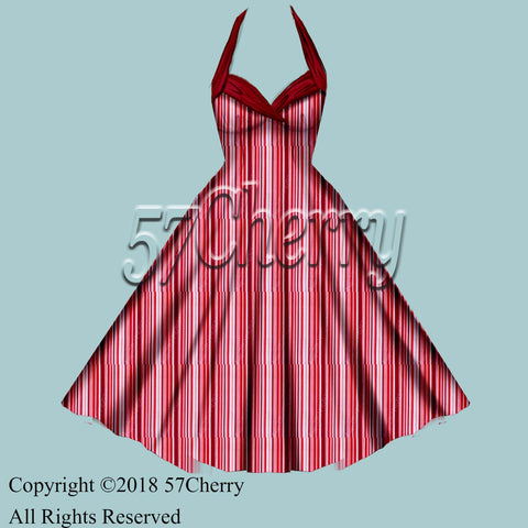 Stripe pinup dresses