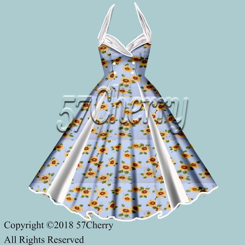 Sunflower pinup dress