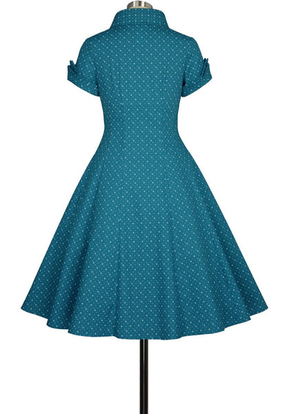 Gorgeous Deep Teal 1950's Classic Lucy Dress