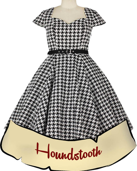 Hannah Houndstooth Pinup Dress