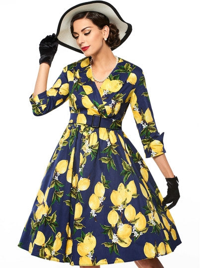 Lemon Drop Pinup Dress
