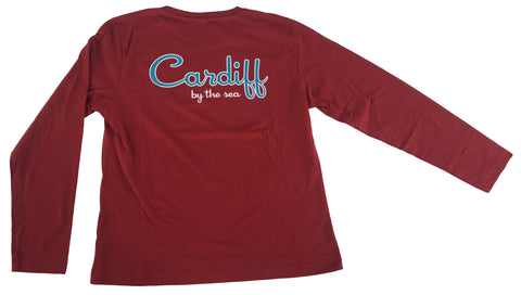Women's CBS Long Sleeve- Burgundy Red