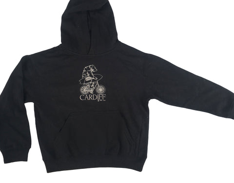 Youth Beach Cruisen Bear Hoody-BLACK