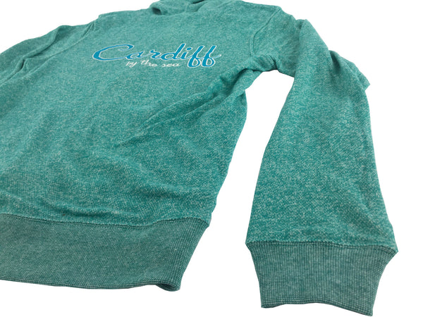 Women's CBS French Terry Zip Sweatshirt- TEAL