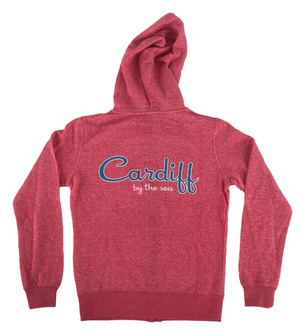 Women's CBS French Terry Zip Sweatshirt- Fuchsia