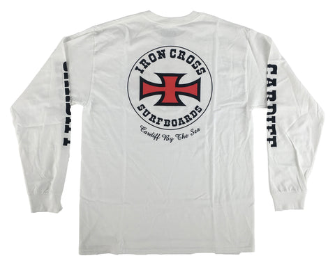 Iron Cross / Cardiff Long Sleeve- WHITE