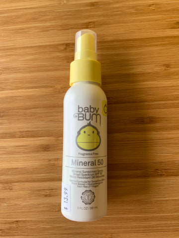 Baby Bum Mineral SPF 50 spray,