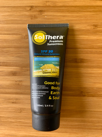 SolThera Premium Sunscreen, Natural Mineral SPF 30
