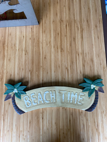 Beach Time (wood sign)