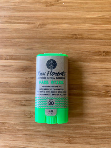 Raw Elements Natural Sunscreen SPF 30 Face Stick