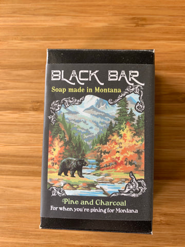 Black Bar Pine and Charcoal Soap