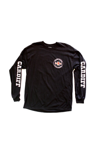 Iron Cross / Cardiff Long Sleeve-BLACK