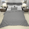 beddley white and black easy duvet cover with zipper queen