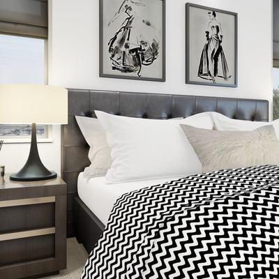 beddley white and black quick duvet cover with zipper king