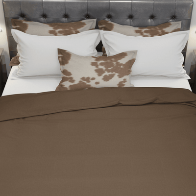 beddley Brown Cotton Duvet Cover queen