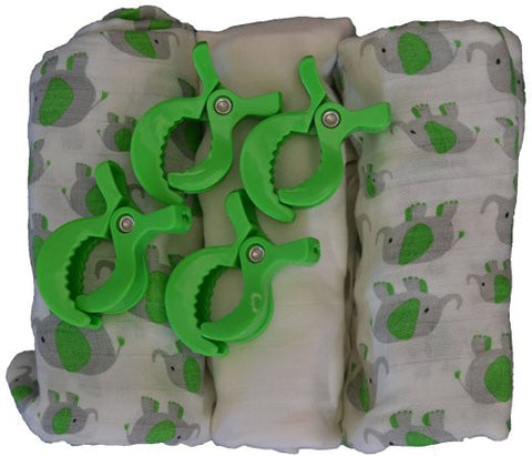 Muslin Swaddle Blankets Organic Bamboo Baby Gift Set- USA ONLY