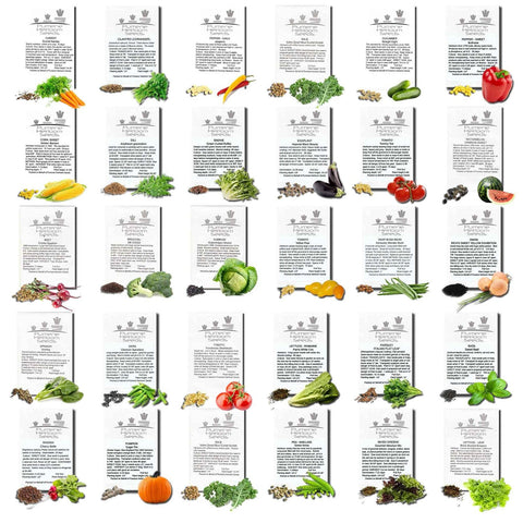 30 Types of Vegetable Seeds -USA ONLY
