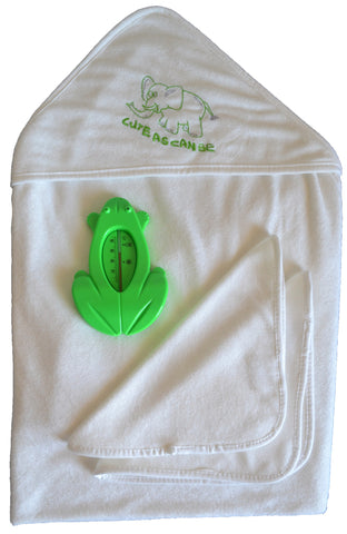 Bamboo Baby Bath Hooded Terry Towel Gift Set- USA ONLY