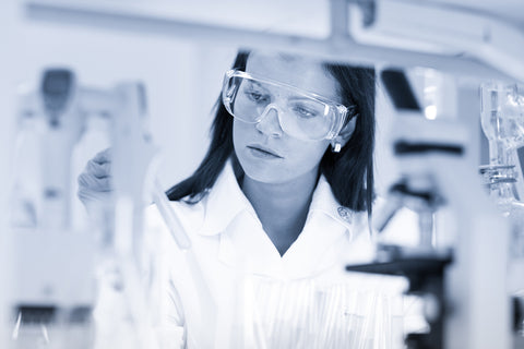 photograph of woman lab scientist.