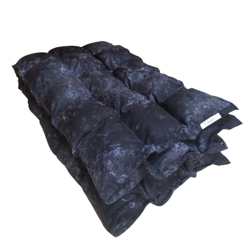 Clearance Weighted Blanket - Medium 10 lb Stone Black  (for 80 lb user)