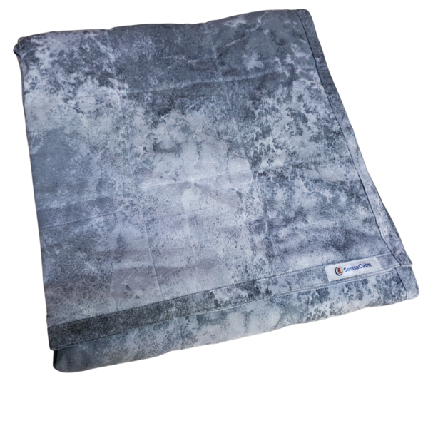 Clearance Weighted Blanket - Medium 9 lb Stone Gray Super Cool no polyfill (for 70 lb user)