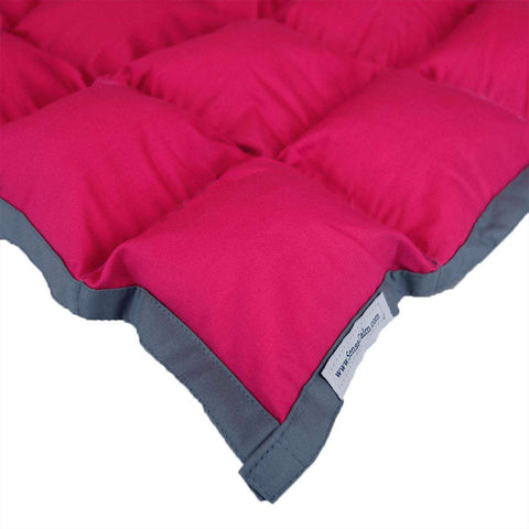 Stock Waterproof Weighted Blanket - Medium Raspberry and Slate Gray-Finished Weighted Blanket-SensaCalm