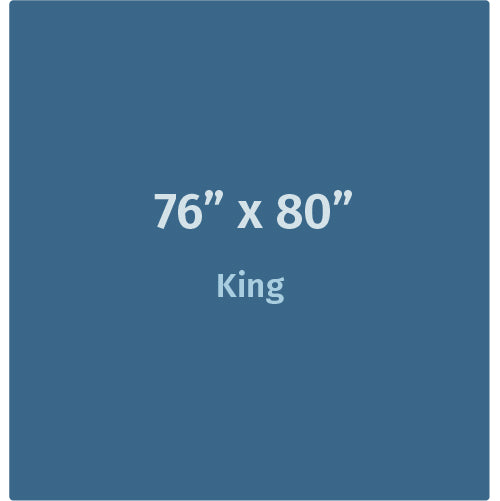 "Weighted Blanket - King (76"" x 80"") For Adults"