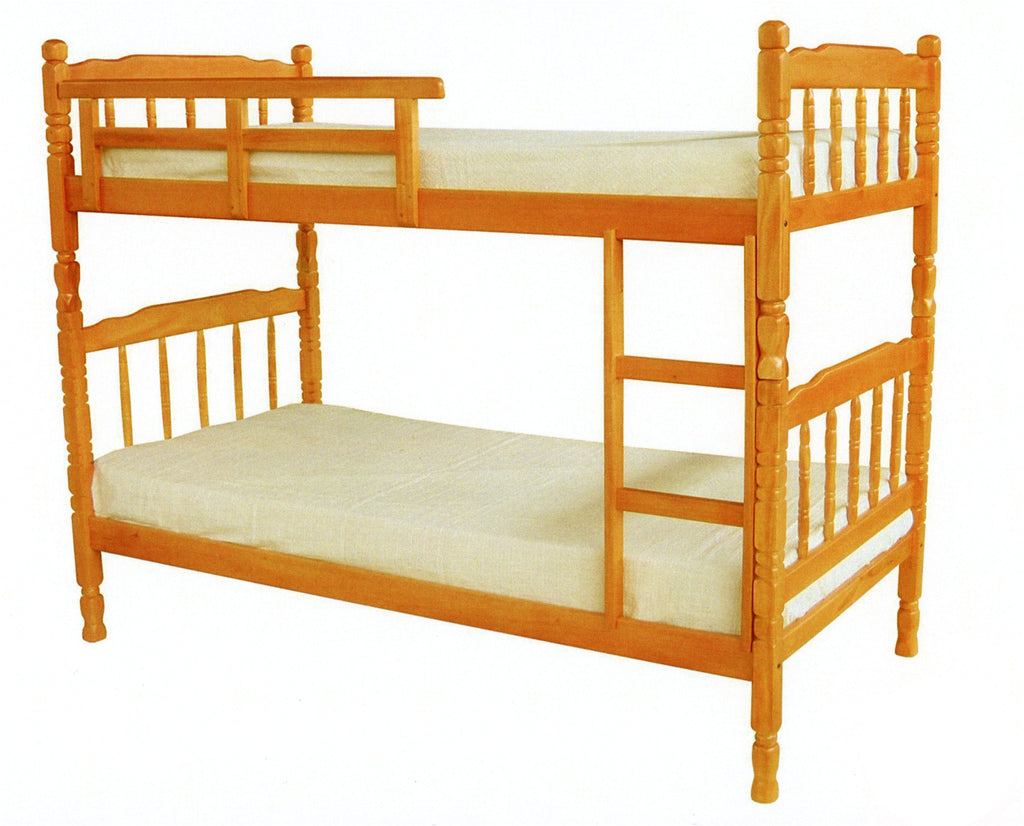 Agreta Double Deck Wooden Bed Frame – Luxure Furniture