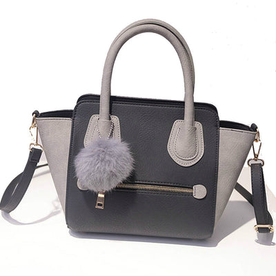 Elegant Pom Shoulder Bag