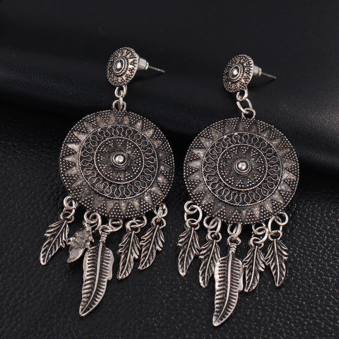 Vintage Dream Catcher- Drop Earrings