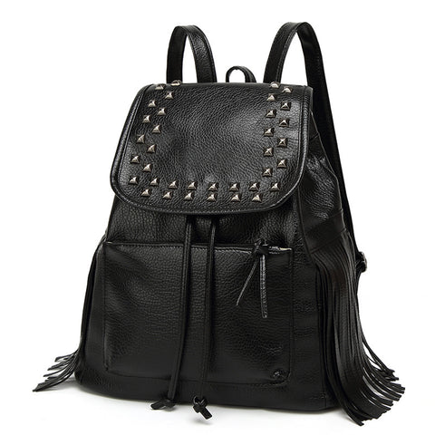 Trendy Tassel Saddle Backpack