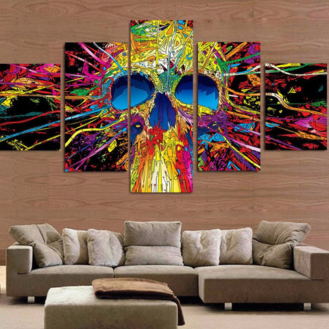 Modern Canvas 5 pc - Vibrant Skull