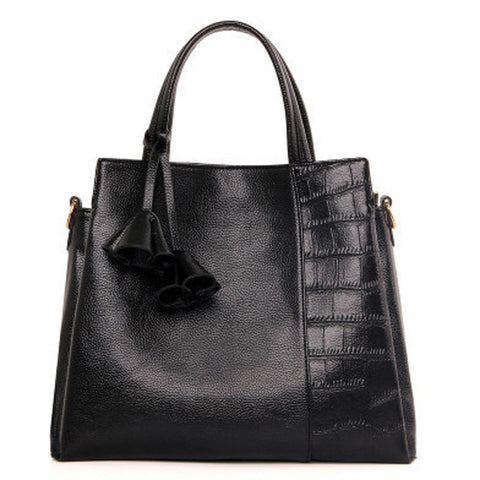 Rose Tassel Leather Handbag