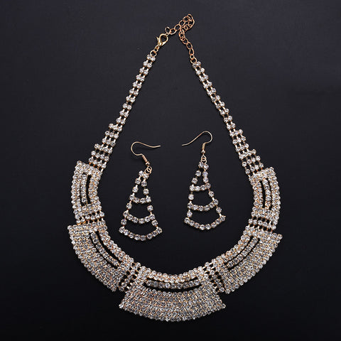 Victoria Bridal Set Necklace and Earrings
