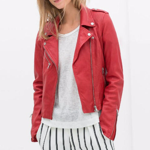 Classic Light Leather Jacket