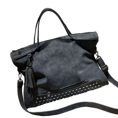 Trendy Stud Bottom Shoulder Bag
