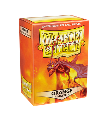 Dragon Shields: (100) Matte Orange