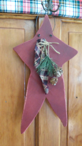 Holiday Wall Decoration! Primitive Wooden Star's